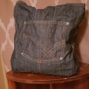 Vintage Denim Shoulder Bag.